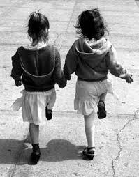 two girls BW