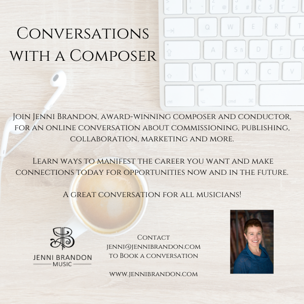 Conversations with a Composer – Booking now for 2021